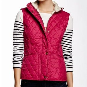 Barbour Quilted Liddesdale Vest in Fuschia Gilet